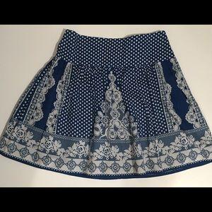 Kimichi & Blue white/blue skirt size 0